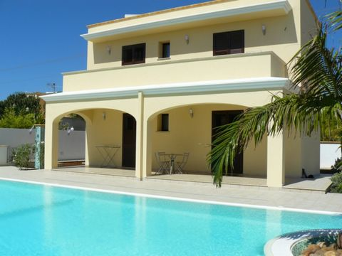 This beautiful Villa is located in Mazara del Vallo, at 8 minutes walk from the beach and 38 km from Trapani. Marsala is 17 km from the property. It includes also a seasonal outdoor pool equipped with sunbeds and it is ideal place for a relax with yo...