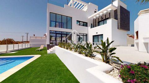 Esta villa forma parte de una promoción de obra nueva de 11 villas localizadas en la zona del Balcón de Finestrat, con maravillosas vistas al mar. Se trata de una ubicación privilegiada entre el mar y la montaña, junto al parque temático de Terra Mít...