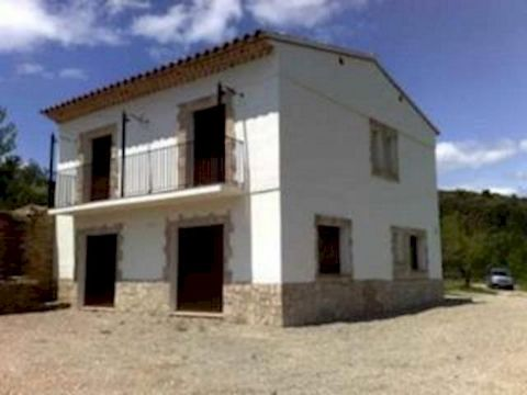 Villa with 3 Bedrooms, 2 are en-suite. Large Kitchen, Dining room, Large Lounge, Large patio. There are 2000 m2 of almond trees, in a valley with fantastic views. It has mains electric and water. Near the small town of Atzeneta, which is only 20 minu...