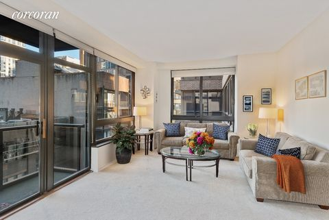 Spacious and pin-drop quiet split 2 bedroom, 2.5 bathroom with a private wrap balcony now available for sale at 100 United Nations Plaza, one of Midtown East's premier white-glove, full service condominiums. Measuring approximately 1,256 of interior ...