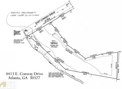 Located in Atlanta. Stunning secluded, private developed lot. Ready for your custom build. Sewer & Water available. .70 acres. Walk to Chastain Park.