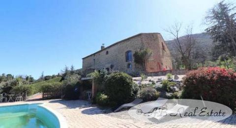 This beautifully renovated, south facing 17th century Catalan mas is in a sought-after elevated position in the Pyrénées-Orientales, Occitanie, South of France. It overlooks a pretty valley, the Plain of Roussillon, mountains and the Mediterranean an...