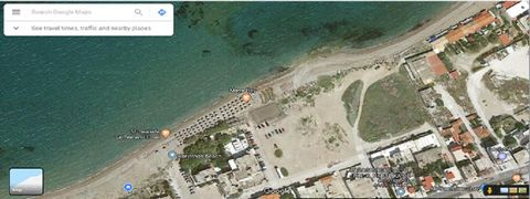 Corinthos, Kalamia Beach. For sale a seafront plot of 4,236 sq.m., in city plan, level, 3-sided, buildable, building factor 0,8, panoramic sea view,  Price 3.400.000 €, negotiable.