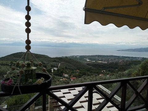 Agios Vlassis, Magnesia, Volos. For sale a two-storey house (maisonette) with an area of 112,20 sq.m. on a plot with an area of 1.367 sq.m. with sea view. The house is fully furnished and equipped with electrical appliances. It was built in 2005 acco...
