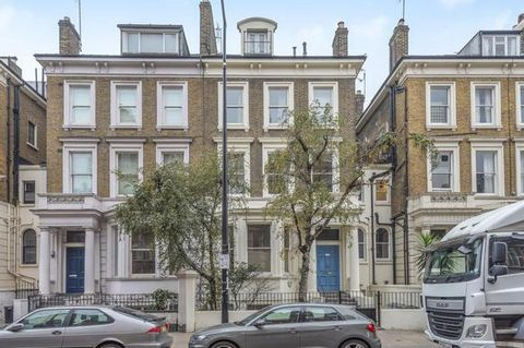 Set on the first floor with characterful living and high ceilings throughout, this wonderful, bright property offers great space and a private terrace for outdoor entertainment. Ideally located close to the many amenities of Kensington High Street an...